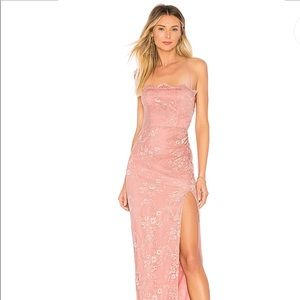 Tavi gown in blush and silver
